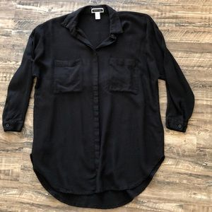 Another Story black 3/4 sleeve button up top